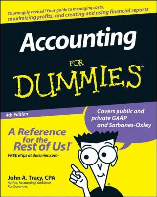 A picture of the front cover of Accounting for Dummies.