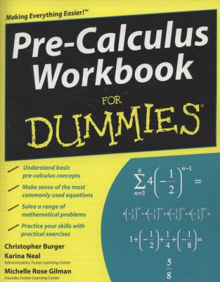 book cover: Pre-Calculus Workbook for Dummies