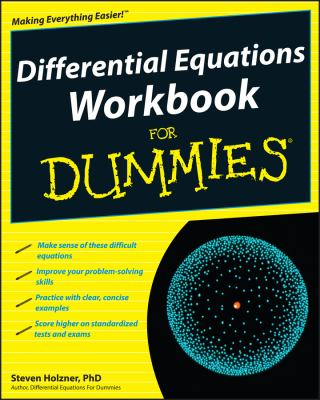 book cover: Differential Equations Workbook for Dummies