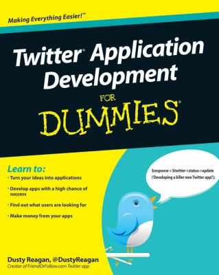 book cover: Twitter Application Development for Dummies