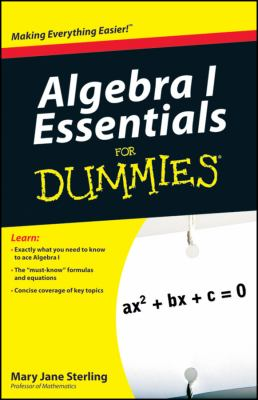 book cover  Algebra I Essentials for Dummies