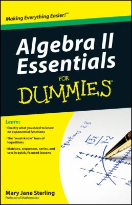 book cover Algebra II Essentials for Dummies