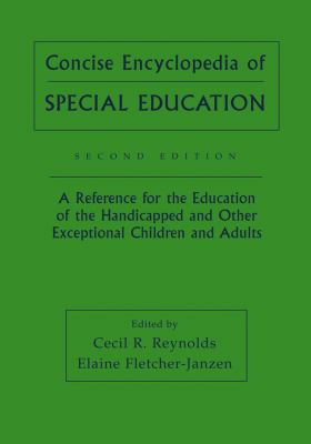 Book jacket for Concise Encyclopedia of Special Education