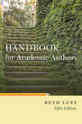 Book cover for Handbook for Academic Authors