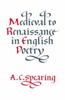 Book Cover for Medieval to Renaissance in English Poetry
