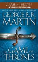 """A Game of Thrones"" Book Cover"