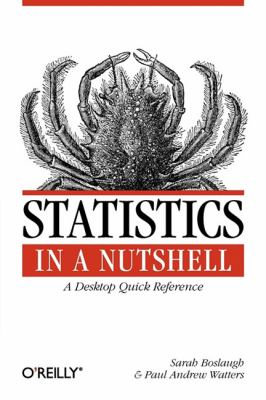 Book cover: Statistics in a nutshell