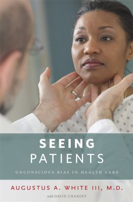 book cover with image of doctor touching throat of Black patient