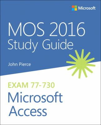 book cover: MOS 2016 Study Guide for Microsoft Access