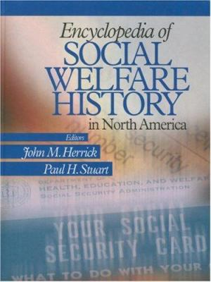 Book jacket for Encyclopedia of Social Welfare History in North America