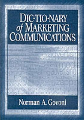 Book jacket for Dictionary of Marketing Communications