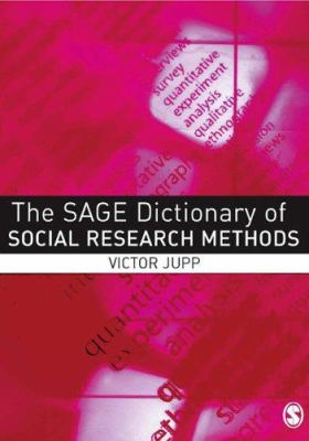 Book jacket for The SAGE Dictionary of Social Research Methods