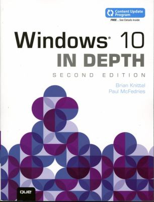 book cover: Windows 10 in Depth (includes Content Update Program)