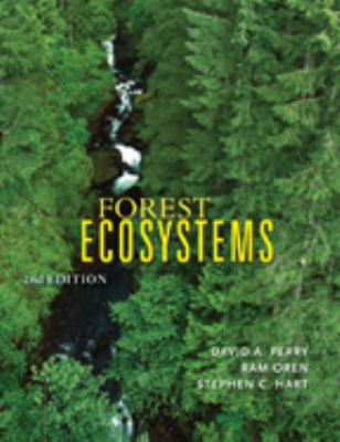 cover art: photograph of mature conifers and a waterfall from above