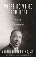 Book cover for Where Do We Go From Here by Martin Luther King, Jr.