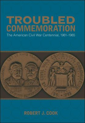 book cover for troubled commemoration