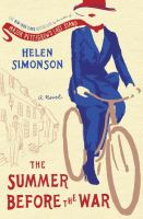 Book cover for The Summer Before the War