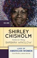 Book cover for Shirley Chisholm
