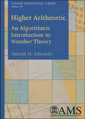 book covers: Higher Arithmetic: an algorithmic introduction to number theory