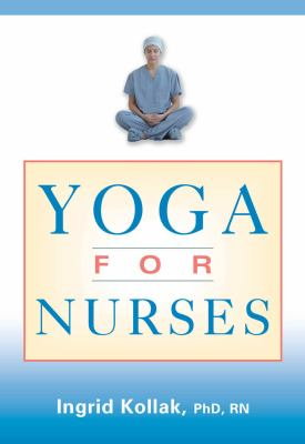 blue and white book cover with photo of nurse sitting