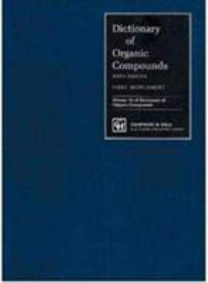 Cover Image: Dictionary of Organic Compounds