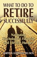 What to do to Retire Successfully book cover