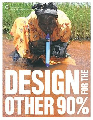 A book cover featuring a photo of a woman kneeling in brown water and using a water filtration device. The title text is white and imposed over the image.