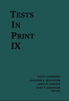 Tests in Print IX Cover
