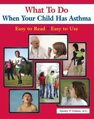 red book cover with 6 images of children, some playing sports, one using an inhaler, one walking with adults, etc.