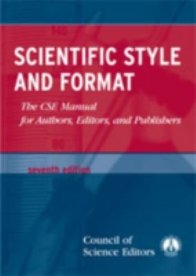 Scientific Style and Format book cover 2004 edition