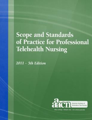 book cover image and link to Scope and Standards of Practice for Professional Telehealth Nursing