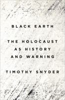 Book cover for Black Earth by Timothy Snyder