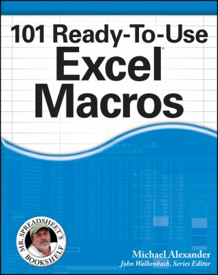101 Ready-to-Use Excel® Macros cover