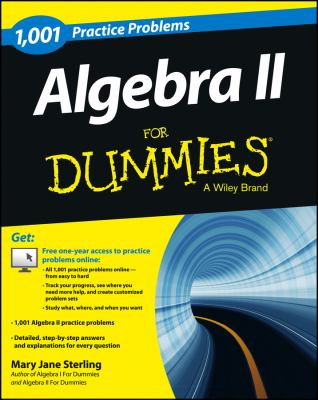 book cover:1001 algebra II practice problems for dummies