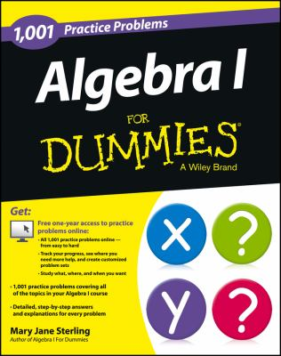 book cover: 1,001 algebra I practice problems for dummies