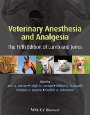 Book cover of Veterinary Anesthesia and Analgesia, 5th ed - click to open in a new indow