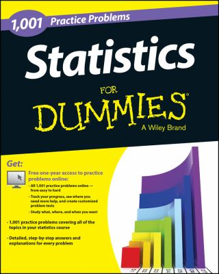 Book cover: Statistics: 1,001 Practice Problems for Dummies (+ Free Online Practice)