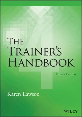 Book jacket for The Trainer's Handbook