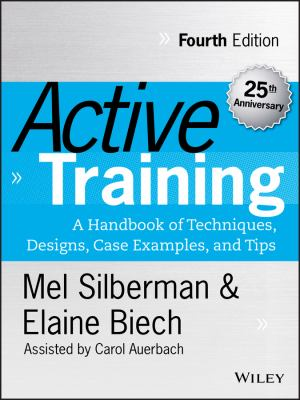 Book jacket for Active Training:A Handbook of Techniques, Designs, Case Examples, and Tips