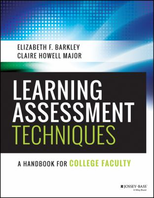 [Book Cover] Learning Assessment Techniques