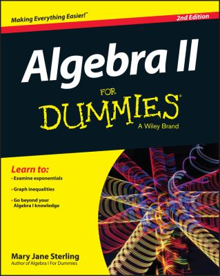 Book cover: Algebra II for Dummies