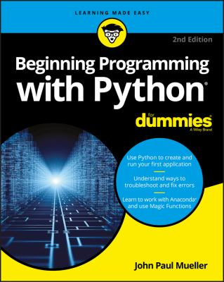 book cover: Beginning Programming with Python for Dummies