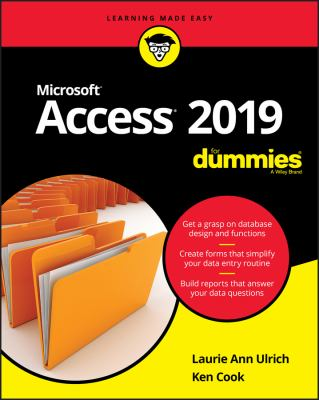 book cover: Access 2019 for Dummies