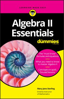 Book Cover: Algebra II Essentials for Dummies