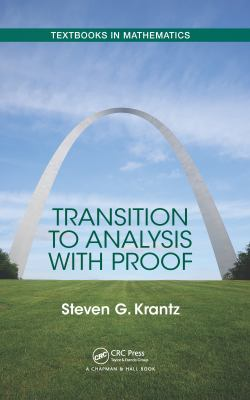 book cover: Transition to Analysis with Proof