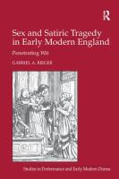 Sex and Satiric Tragedy in ...