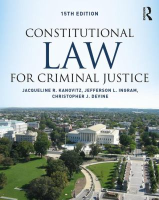 Cover art of Constitutional Law for Criminal Justice