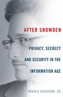 Book cover for After Snowden