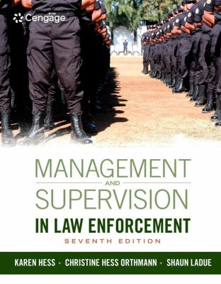 Cover art of Management and Supervision in Law Enforcement