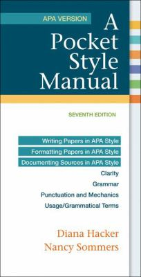 A Pocket Style Manual, APA Version Cover Art